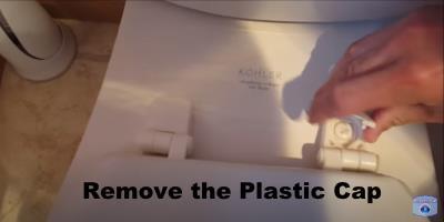 remove the plastic cap
